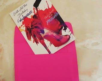 Red Bottoms Birthday Card