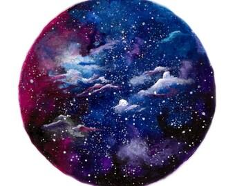 Purple Galaxy Skies