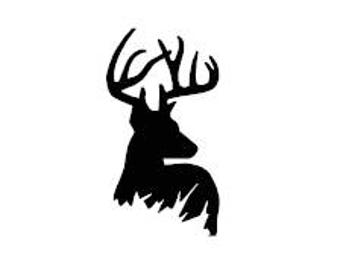 Deer Hunting Decal Etsy - Hunting decals for truckshuntingfishing window decals in white or camouflage at woods
