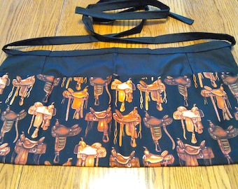 Waitress Apron Cowboy Saddles