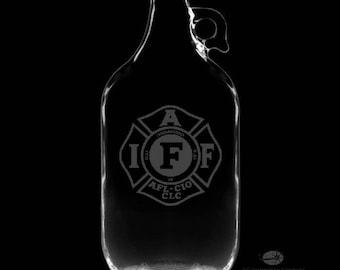 64 Ounce IAFF Personalized Growler