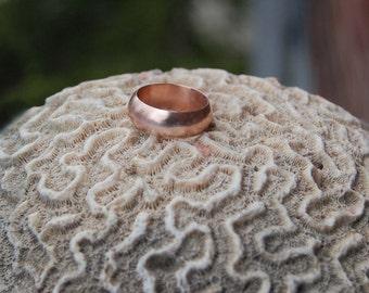 14kt Rose Gold 7mm wide Domed Wedding band