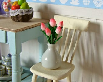 Miniature Tulips in Vase | Dollhouse Miniatures | Miniature Flowers | Polymer Clay Flowers | 1:12 scale