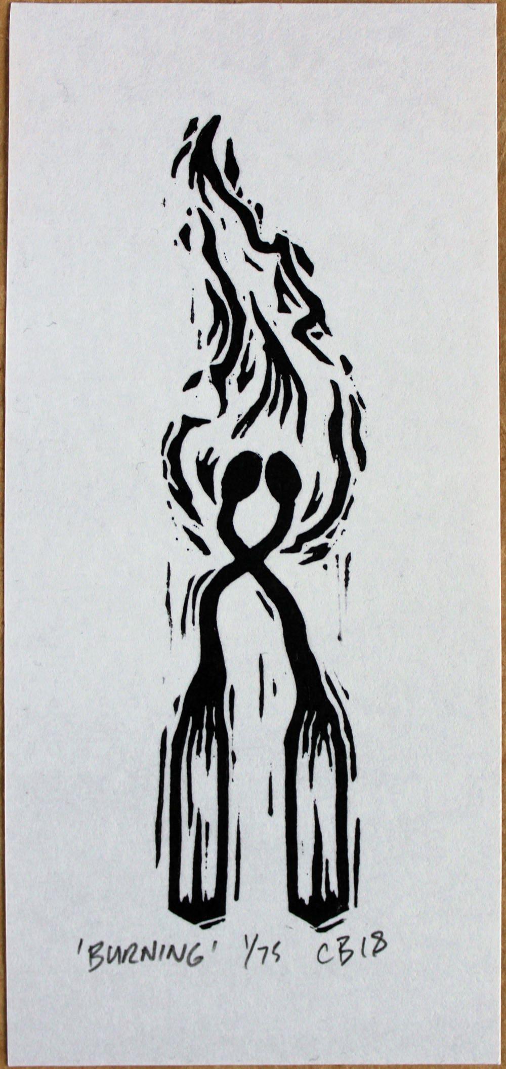 Chris Bourke Lino Print Linocut artist