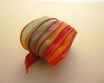 Ribbon color No. 622 hand dyed silk