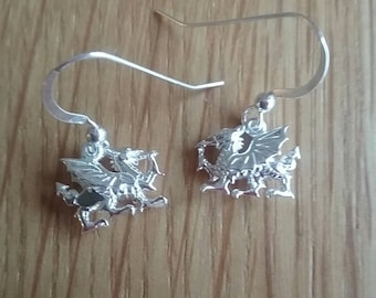Welsh dragon earrings