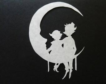 Mr. and Mrs. Man on the Moon Scherenschnitte