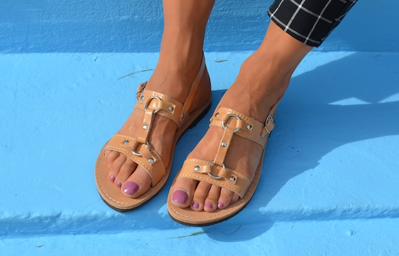 leather Ancient sandals sandals grecian ''Olympia'' Greek Gladiator sandals Ring handmade sandals sandals sandals Slingback dI1Fq4
