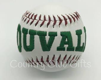 Coach Gift | Personalized baseball | Baseball Mom | Little league | embroidered baseball | Commemorative Baseball | Baseball decor
