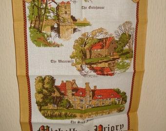 Vintage tea towel Michelham Priory