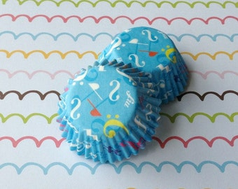 SALE - Mini Music Notes Cupcake Liners