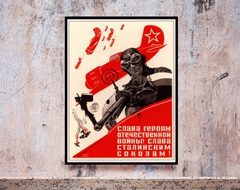 Reprint of a Russian Propaganda Poster Circa 1950