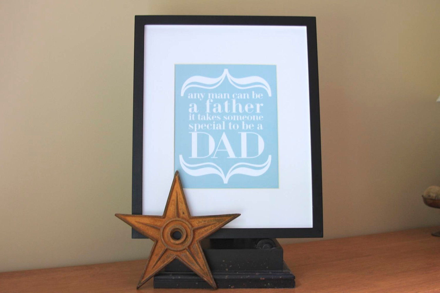 Fathers Day Gift Love Art Print Daddy Dad DaDa Stepdad Birthday To Be A Baby Shower Gifts For Father Pregnancy