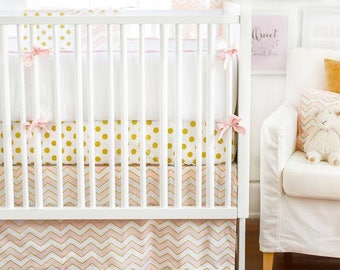 Gold Rush in Pink Baby Bedding Set