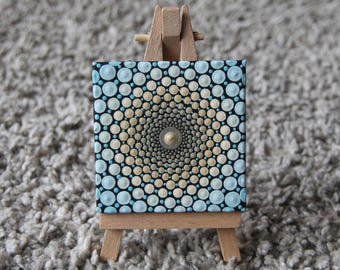 Painting canvas wooden frame mandala