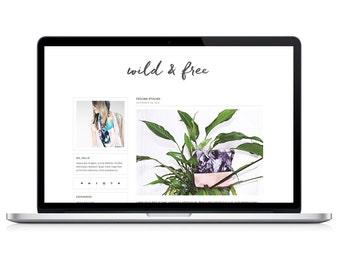 "wordpress theme ""wild & free"" - responsive blog template - premade"
