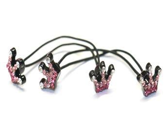 2 Piece Children's Swarovski Hair Elastic, Hair Ponytail Holder, Hair Rubber band