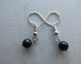 jet bead earrings