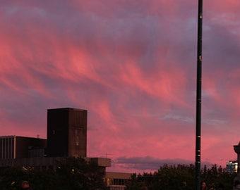 Boston Cloudscape at Sunset