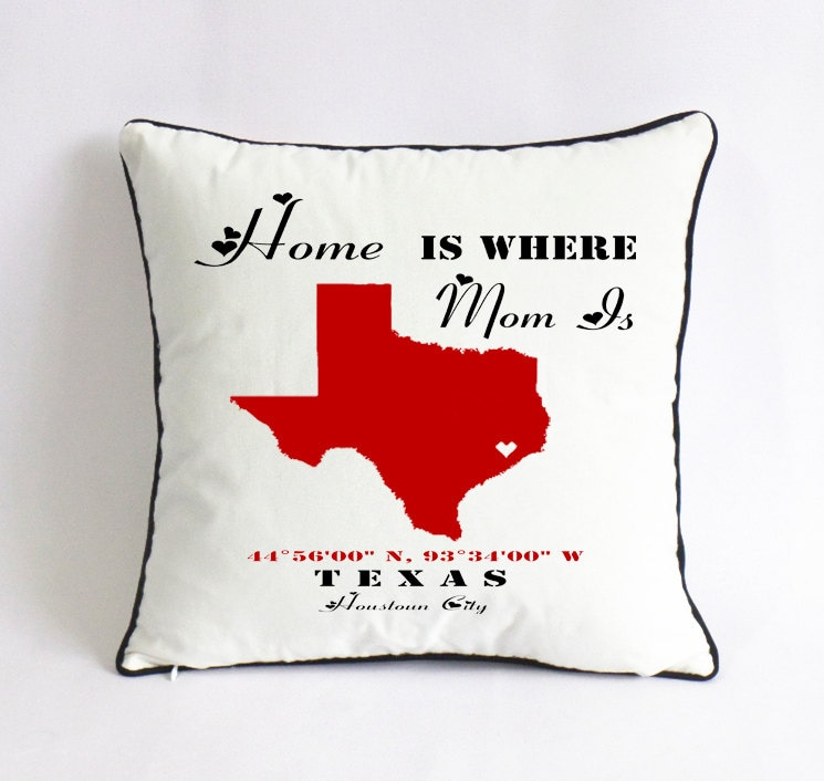 home is where mom is pillow case-custom gift for mom-unique