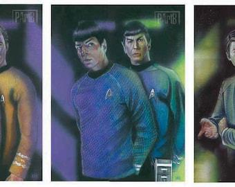 Star Trek Legacy Triptych print