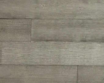 Gray Reclaimed Wood Wall Paneling (Peel and Stick)