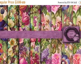 Sale Digital Floral Backgrounds Digital Floral Paper Pack Digital Floral Scrapbooking Paper Dresser Draw Liners No 1186