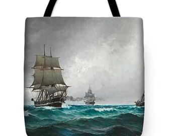 Quiet evening in the North Sea Tote Bag