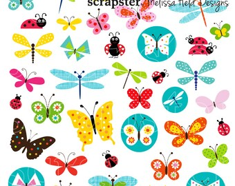 Butterfly and Ladybug Clipart
