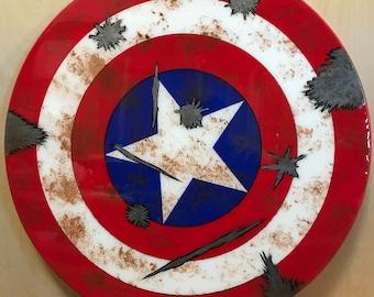 Wooden Captain America Shield