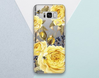 Yellow Rose Floral phone case for Samsung Galaxy s9 case Galaxy s9 plus case Floral Galaxy s8 case Rose Galaxy s7 case Galaxy note 8 OC_091