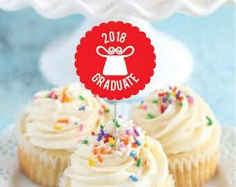 2018 Senior Grads Hmong Cupcake Toppers