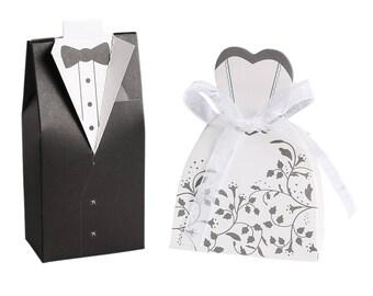 20 Groom & Bride Favor Boxes
