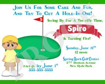 Mini Golf Invitation