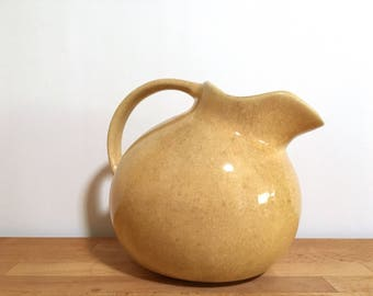1920s Pottery Ball Jug Pitcher