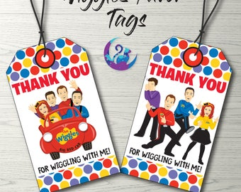 Wiggles Favor Tags, Wiggles Thank You Tags, Wiggles Party Decoration, Wiggles Favors, Wiggles Birthday Party Printable Wiggles Favour Tags
