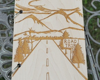 Road Trip Journal Sketch Book, Travel Journal Scrap Book with Blank Pages, Gift for Adventurer, Nature Enthusiast