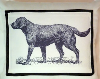 Labrador Pillow Covers - Decorative Pillow Covers - Ivory Twill - Labrador Retriever - Black Lab - animal pillows - Fathers Day Gift