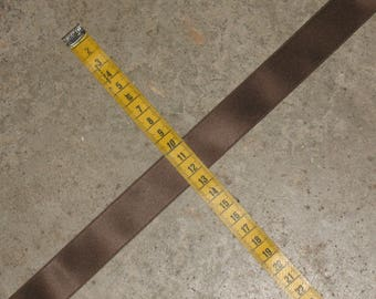 1 meter Ribbon 25 mm wide Brown satin