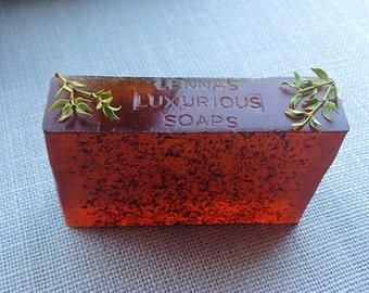 Creosote Plant Soap, Creosote Soap: Arizona Creosote, Clear Glycerin Soap, Hippie Soap, Vegan Soap, Healing Soap, Natural Soap