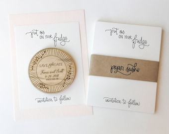 A2 Save the Date Magnet Backing Cards - set of 25 - put me on your fridge card invitation to follow card save the date card