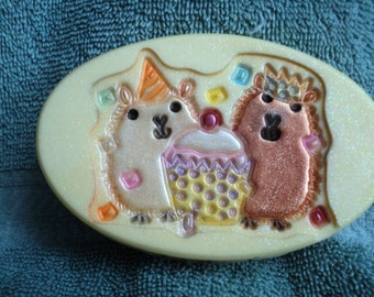 Hamster Party Soap - Birthday gift, Party Favor, Hamster, kids soap, Animal lover, Tween, Best Friend