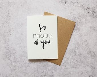 So proud of you // Greeting Card