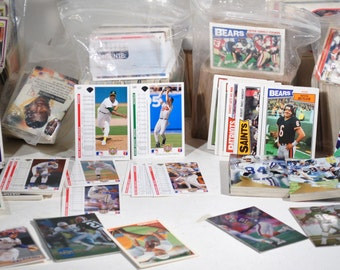Large Lot Vintage Sports Cards Trading Baseball Football Basketball