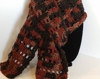 Chocolate & Cinnamon winter neck scarf