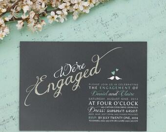 Printable Engagement Invitation - We're Engaged