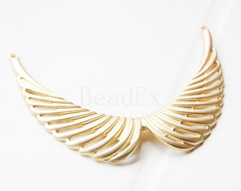 1 PC  / Wing / Link / 16K Matte Gold Plated / Base Metal / Charm / Pendant (CF180//H182A)