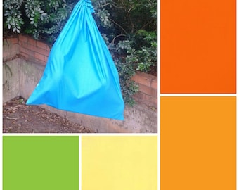 Extra large cotton drawstring bag, NEW colours, orange yellow for toys, library, kindergarten