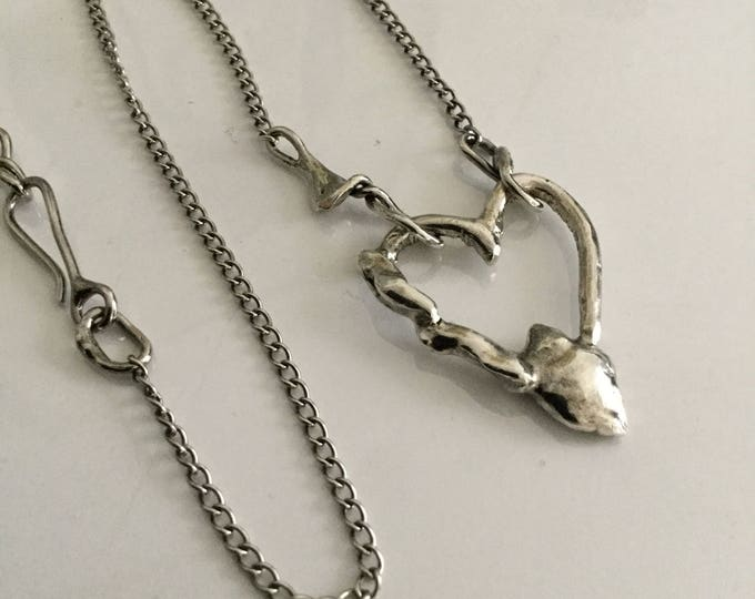 Sterling Silver Broken Heart Necklace