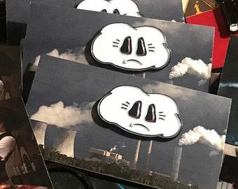 Sad Cloud Soft Enamel Pin